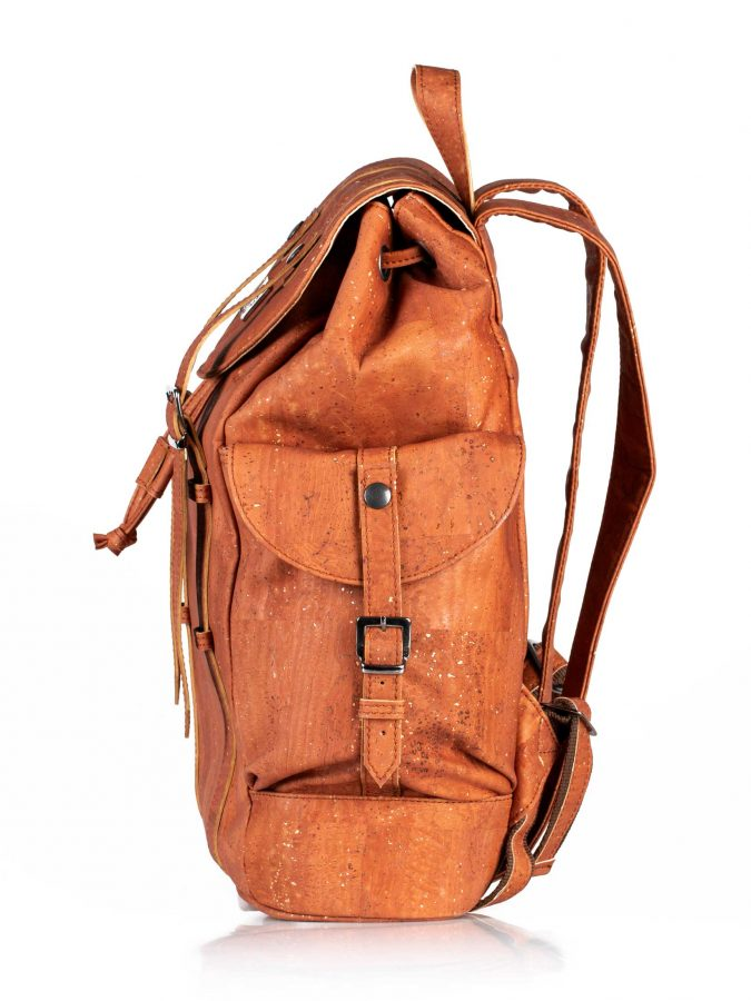 Sac à dos BACKPACKER - camel : sac en cuir vegan